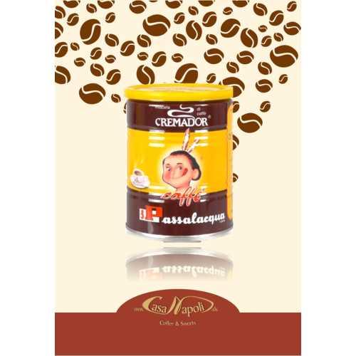 Cremador - 70% Arabica und 30% Robusta - gemahlener Kaffee in der Dose - 0,25 Kilogramm - Passalacqua Caffe