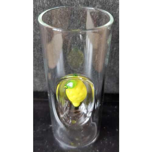 Limoncello Glas mit Zitrone - 50 ml - CasaNapoli