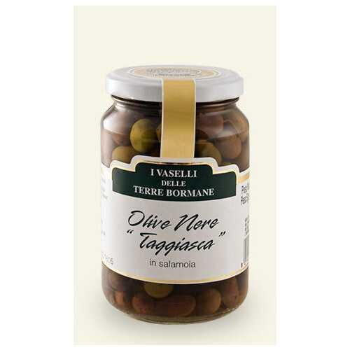 Marinierte schwarze Oliven Taggiasca in Salzlake - 0,22 kg
