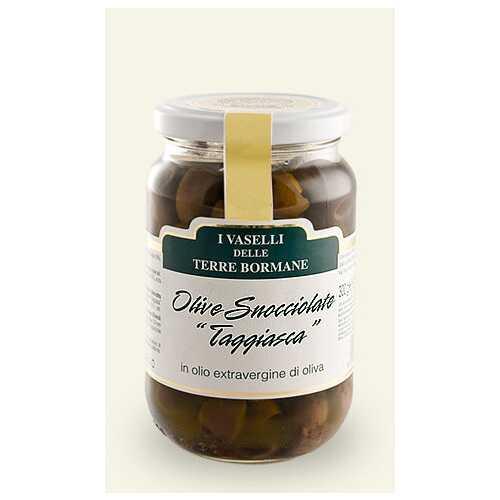 entsteinte schwarze Oliven in nativem Olivenöl Extra - 5,0 kg