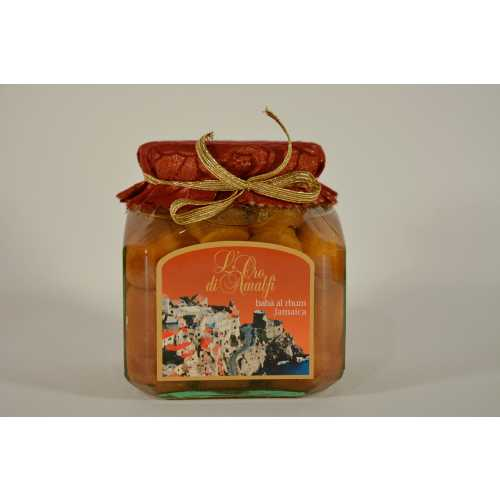 Babà al Rhum - 0,72 kg - 12 vol. - Gebäck in 7-jährigem Jamaica Rum - LOro di Amalfi