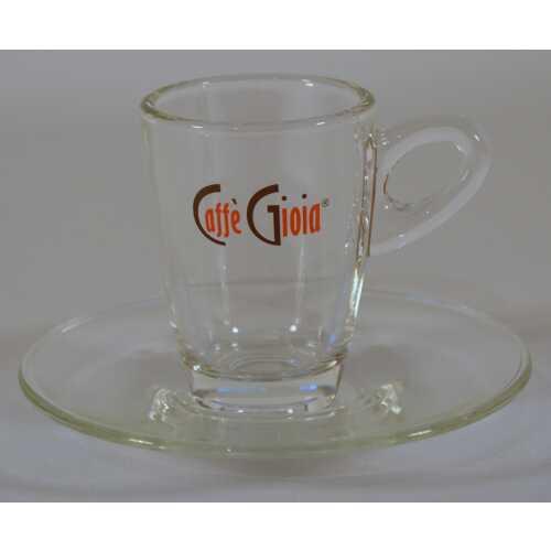 Espresso Glas mit Unterteller von Caffe Gioia - Labcaffe