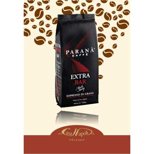 Extra Bar - Kaffee in Bohnen - 1 Kilogramm - Parana Caffe