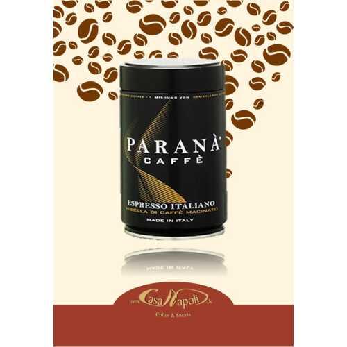 Espresso Italiano - gemahlener Kaffee in der Dose - 0,25 Kilogramm - Parana Caffe