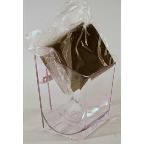 Modell 031 - Kaffeemehl Behälter mit schwarzer Klappe - Quick Mill