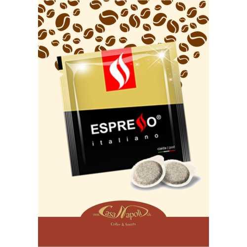 Gold (Oro) - Delizioso - 60% Arabica und 40% Robusta - Cialde - Pads - 10 Stück - Espresso Caffe