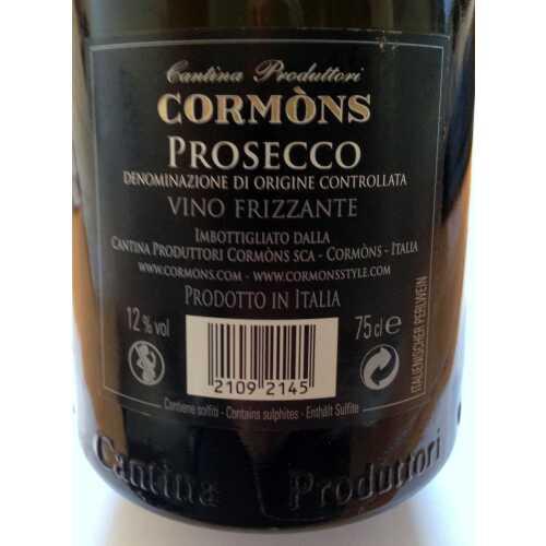 Prosecco DOC - Vino Frizzante - Cormons