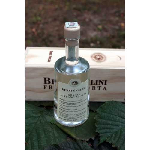 Grappa aus Franciacorta - DOCG - 0,5 Liter - 45 vol. - in der Holzbox - Bersi Serlini