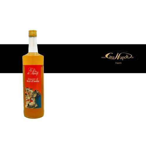 Kaktusfeigenlikör - Fico dIndia - 1,0 Liter - 24 vol. - Flasche: Cristal - LOro di Amalfi