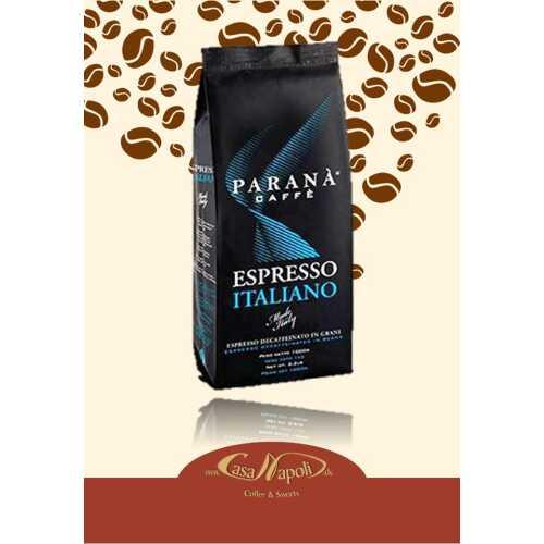 Espresso Italiano Entkoffeiniert - Kaffee in Bohnen - 1,0 Kilogramm - Parana Caffe