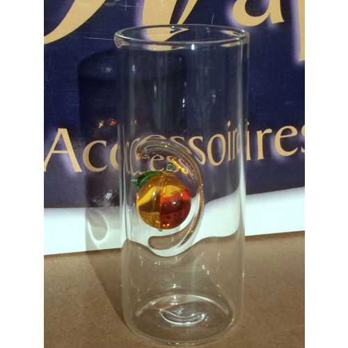 Likör Glas mit Pfirsich - 50 ml