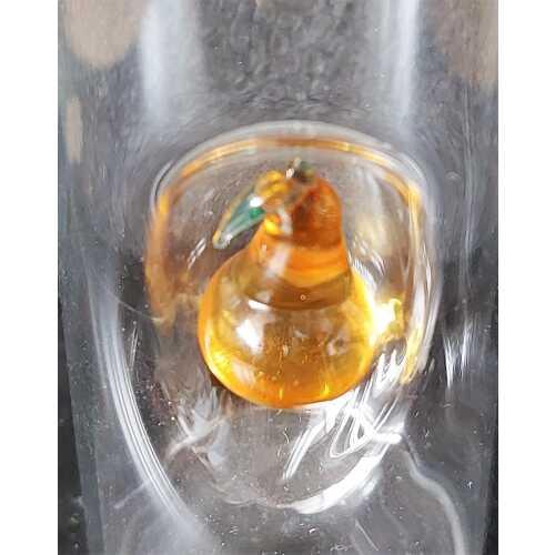 Likör Glas mit Birne - 50 ml