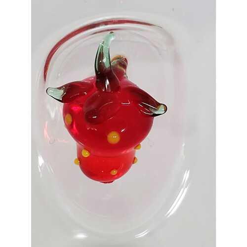Likör Glas mit Erdbeere - Medium - 75 ml